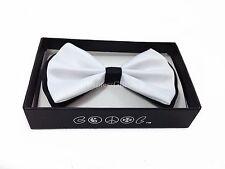 NEW Black/White Tuxedo Classic BowTie Neckwear Adjustable Men's Bow Tie
