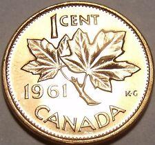 Gem Unc Canada 1961 Maple Leaf Cent~Queen Elizabeth II~Free Shipping