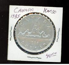 1935 Canada Silver Dollar coin # KM 30