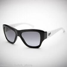NEW IN BOX Fox Racing Sunglasses GU GU Black/White black/Grey Lens LIMITED RARE