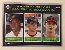 2015 Topps 5x7 P P&F WILLIE MCCOVEY HUNTER PENCE GARY BROWN RC 34/99 Made GIANTS
