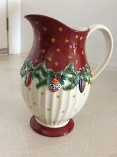 """Pfaltzgraff """"Holiday Garland"""" Pattern, 16 Cup, Christmas Beverage Pitcher-New"""