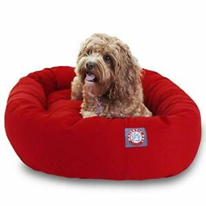 32 inch Red Bagel Dog Bed By Majestic Pet Products