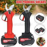 88V Cordless Electric Pruning Shears Secateur Branch Cutter Scissor +1/2 Battery