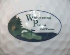 WHISPERING PINES COUNTRY CLUB GOLF COURSE LOGO GOLF BALL