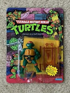 TMNT 1988 Ninja Turtles Mike Michaelangelo Action Figure Toy MOC Pop Up Sealed