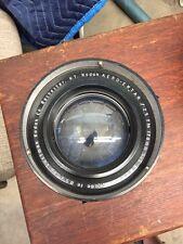 Kodak Aero Ektar 7 Inch F2.5  Brass Lens  5x5 178mm Excellent Glass Stuck Blades