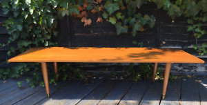 Wooden retro vintage long coffee table Handmade