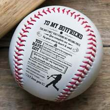 To My Boyfriend Baseball Ball Sports Gift Birthday Graduation Wedding Christmas
