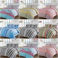 Multi Design Stripe & Chelsea Duvet Covers Quilt Cover Reversible Bedding Sets
