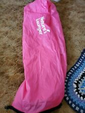 Inflatable Lounger Air Bed Beach Camping Couch Chair Sleeping Bag Pink used