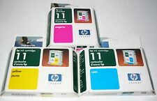 HP 11 ink SET Cyan Magenta Yellow NIP Sealed C4836A C4837A C4838A
