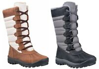 Timberland Woman's Mt. Hayes Tall Waterproof Boots White / Brown ,  Black / Gray