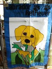 New listing B95 Large Nylon Yellow Lab Labrador Retriever Dog Flag 30 X 47