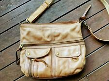 FOSSIL Tan Leather Cross Body Bag