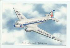 Eastern Air Lines Famous DC-3 Silverliner Postcard Airline Issued Fleet Airplane