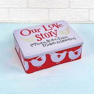 Bright Side Gift Tin - Our Love Story Tin 10th Anniversary gifts