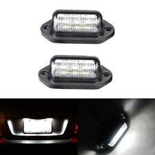 Universal 6-SMD LED License Plate Tag Lights Lamps for Truck SUV Trailer Van