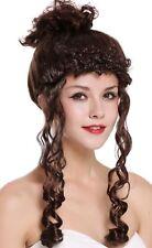 Perücke Karneval Damen Barock Viktorianisch Hochsteckfrisur Löckchen Braun