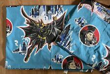 Vtg 90s Dc Comics Batman Returns Fitted And Flat Bed Sheet Set Twin Size