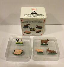 Liberty Falls 2000 Pewter Miniatures Set Of 5 Accessories Ah224 Farm Animal Set