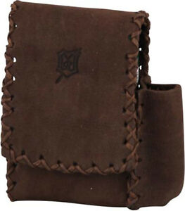 MR Cigarette Case King Size 100er Pack - 2 Magnetknöpfe - Leather Dark Brown