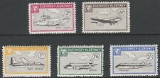 Alderney 7279 - 1965 AIRCRAFT set of 5 unmounted mint