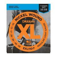 D'Addario EXL110-7 XL Nickel Light 7 String Electric Guitar Strings