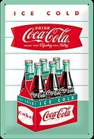 Coca Cola Karton geprägten Metallschild (na 3020)