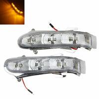 2X FOR W220 W215 1999-2003 Amber LED Side Mirror Blinker Light Turn Signal Lamp