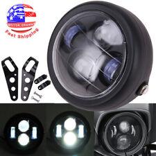 "Motorcycle 6.5""LED Headlight Headlamp Hi/Lo for Harley Bobber Chopper Cafe Racer"