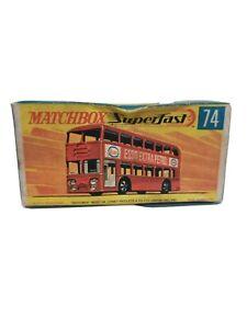 Matchbox superfast. NO.74  DAIMLER BUS  ORIGINAL EMPTY BOX.