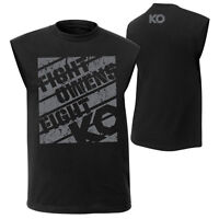 """WWE KEVIN OWENS """"FIGHT OWENS FIGHT"""" MUSCLE T-SHIRT OFFICIAL MEDIUM OR LARGE NEW"""