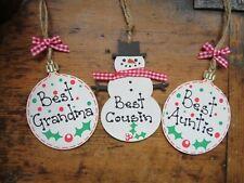 Christmas Bauble Best Auntie Mum Dad Friend Grandma Teacher Handmade Xmas Gift