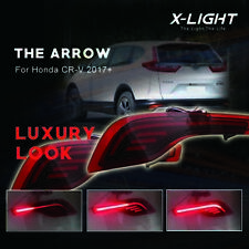 Fit Honda CRV 2017 2018 Red LED Bumper Brake Lights w/ Sequential Turn Signal