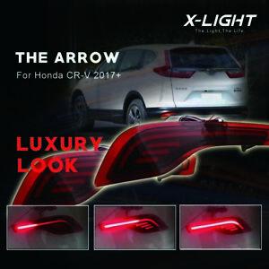 LED Rear Bumper Reflector Driving Brake Light Lamp For Honda CRV CR-V 2017-2018