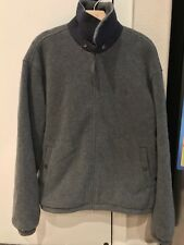 Polo Ralph Lauren Pony Full Zip Polartec Fleece Jacket Gray Mens Size Large