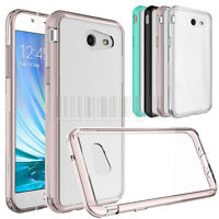 Slim Hybrid Clear Case TPU Hard Bumper Phone Cover Fr Samsung Galaxy J3 Emerge