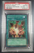 YuGiOh PSA 10 Infinite Cards! LON-027 Labyrinth of Nightmare 1st edition Rare