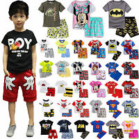 Kids Baby Boys Girls Short Sleeve T-shirt Shorts Pants Summer Outfit Clothes Set
