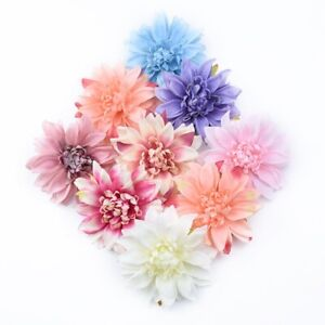 6 Pcs Artificial Gerbera Daisy Flower Head Fake Craft Floral DIY Home Decoration