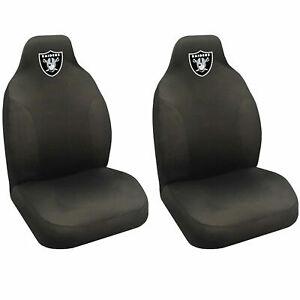 NFL Football Las Vegas Raiders Car Seat Covers Universal Fit Fanmats - 2 PC