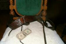 #12-Terrific Old Vintage Antique Parade Saddle Breast Collar imbossed leather
