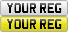 PAIR OF Standard UK Road Legal Car Reg Registration Number Plates & Fittings