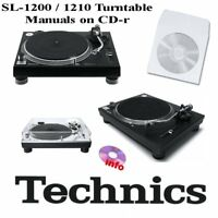 Technics SL-1200 SL-1210 turntable service instruction owner manuals on CDr