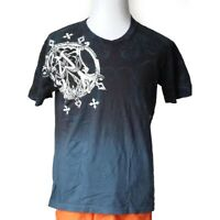 """Afliction Men Size M T-Shirt Graphic V-Neck 100% Cotton Made in USA 23"""" x29"""""""