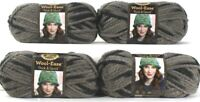 4 Ct Lion Brand Wool-Ease Thick & Quick 6 Super Bulky 519 Raven Washable Yarns