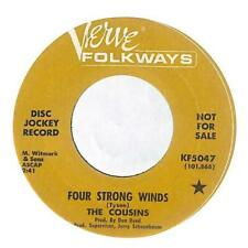 """The Cousins - Four Strong Winds - Promo - 7"""" Vinyl Record"""