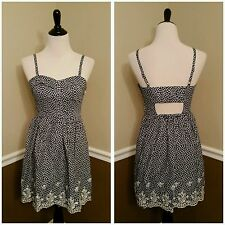 NWT Modcloth Fest of All Dress S Blue~White Butterfly Open Back Sunny Girl Retro