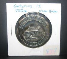 Vintage Jennie Wade House Battle of Gettysburg PA Metal Pocket Watch Fob